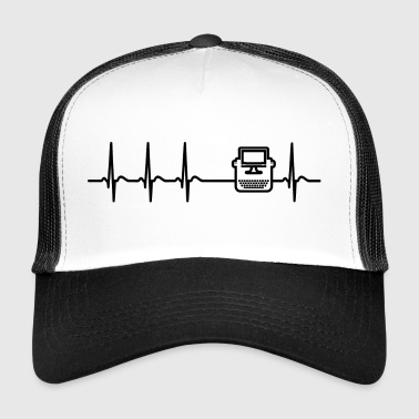 Heartbeat Writing Författare Journalist Fun Gift - Trucker Cap