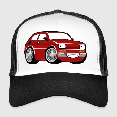 Red cartoon racing car toddler classic - Trucker Cap