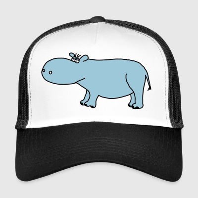 Hippo animaux sauvages hippopotames Hippo Comic - Trucker Cap