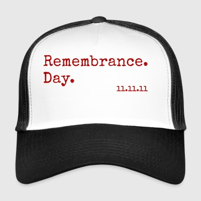 Remembrance Day. 11.11.11. Red Poppy - Trucker Cap