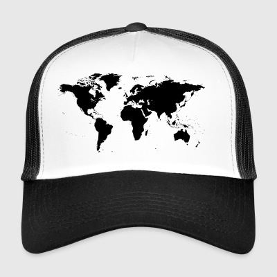 map of the world - Trucker Cap