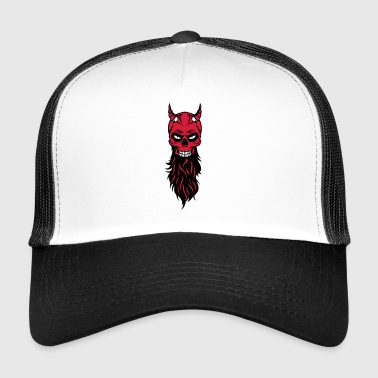 dead head hipster devil bearded beard fantasy luc - Trucker Cap