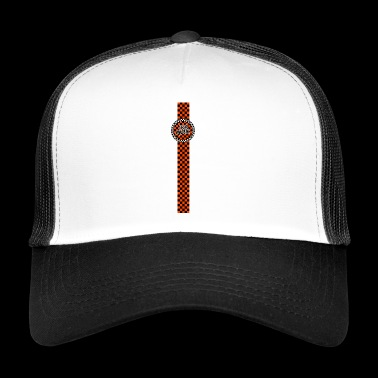 Ska Musik orange schwarz Band Design - Trucker Cap