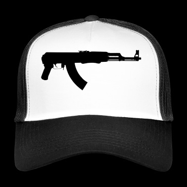 criminal gangster criminal gun pistol weapon bul - Trucker Cap