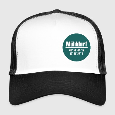 Mühldorf am Inn - coordinates in green - Trucker Cap