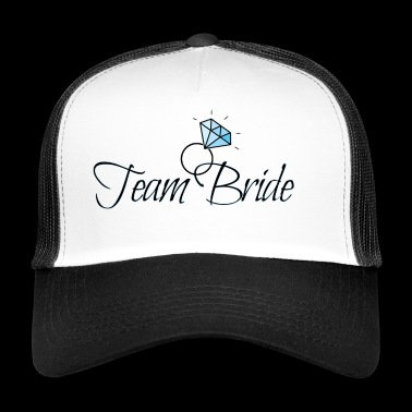 Team bride with diamond ring - Trucker Cap