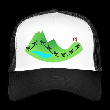 Swiss mountains - Trucker Cap