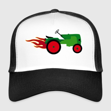 Tractor green | Trecker | Towing truck Bulldog builder - Trucker Cap