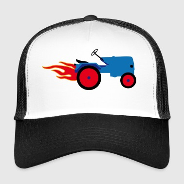Tractor blue | Trecker | Towing truck Bulldog builder - Trucker Cap