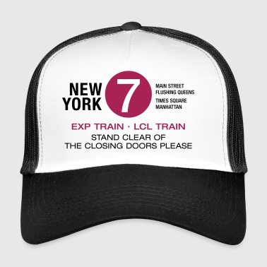 New York City Subway 7 Manhattan Queens NYC - Trucker Cap