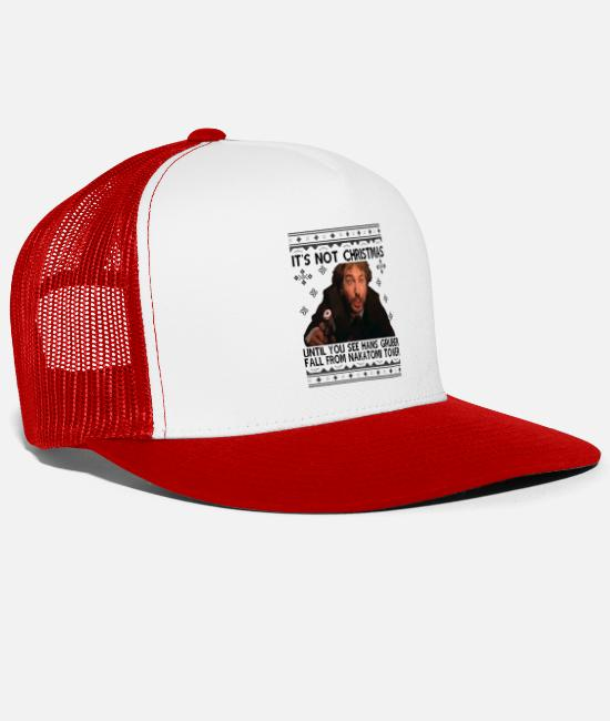 Hardstyle Caps & Hats - That Hard Its Not Christmas - Trucker Cap white/red