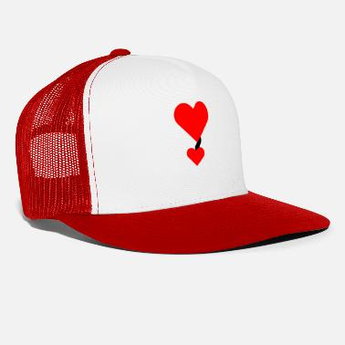 I Heart i love you red heart in love couple gift - Trucker Cap