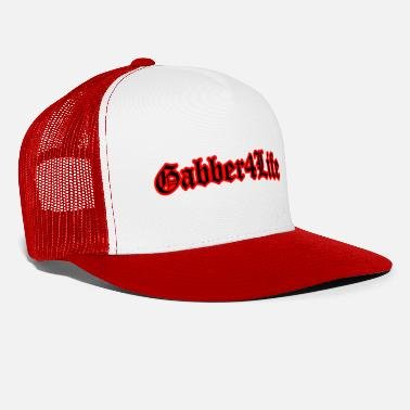 Gabber Gabber 4 Life (Black) Rave Quote - Trucker Cap