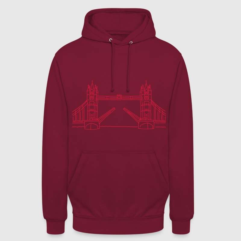 Londres Tower Bridge - Sweat-shirt à capuche unisexe