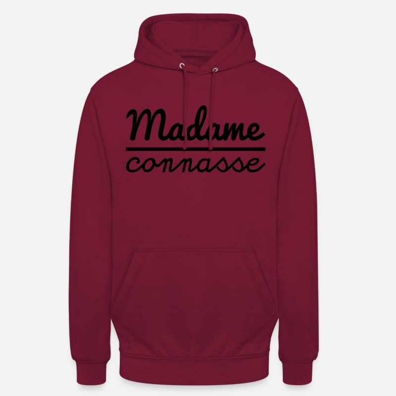 Connasse Sweat-shirts - Madame connasse - Sweat à capuche unisexe bordeaux