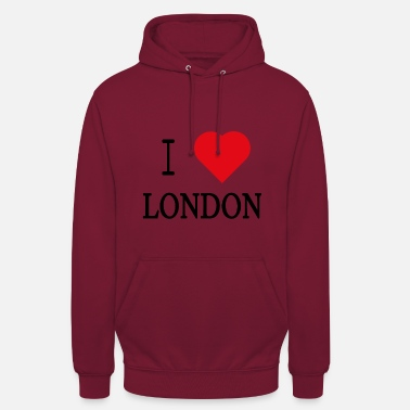 I Love London I Love London - Felpa con cappuccio unisex