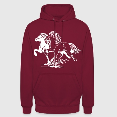 Chevaux au galop - Sweat-shirt à capuche unisexe