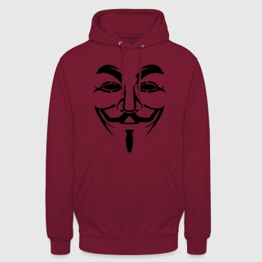Vendetta Maske - Guy Fawkes (Anonymous) - Unisex Hoodie