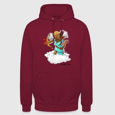 Valentinstag Brown Cupid Cat - Unisex Hoodie