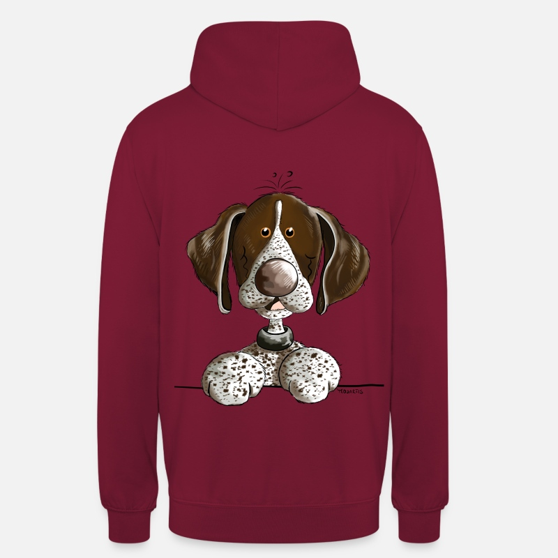 German Hoodies & Sweatshirts - German Shorthaired Pointer - Unisex Hoodie bordeaux