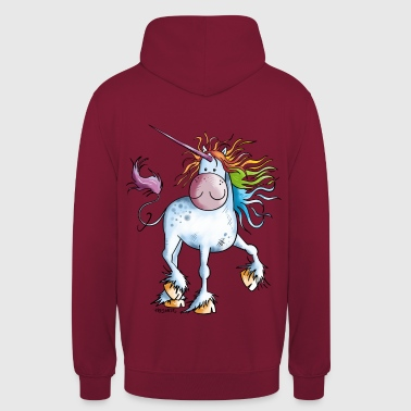 Rainbow Unicorn - Sweat-shirt à capuche unisexe