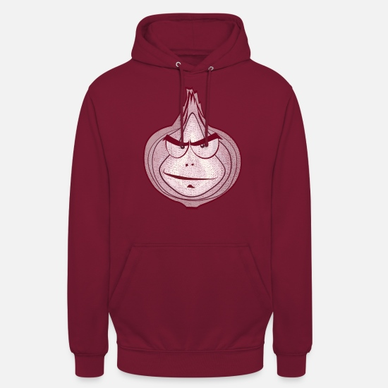 Skeleton Hoodies & Sweatshirts - Used-Lookline Art Comic onion villain - Unisex Hoodie bordeaux