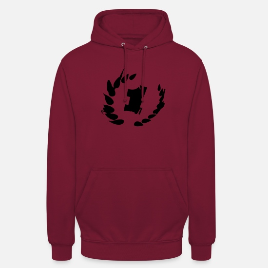 Like Hoodies & Sweatshirts - Number one - winner - first place - Unisex Hoodie bordeaux