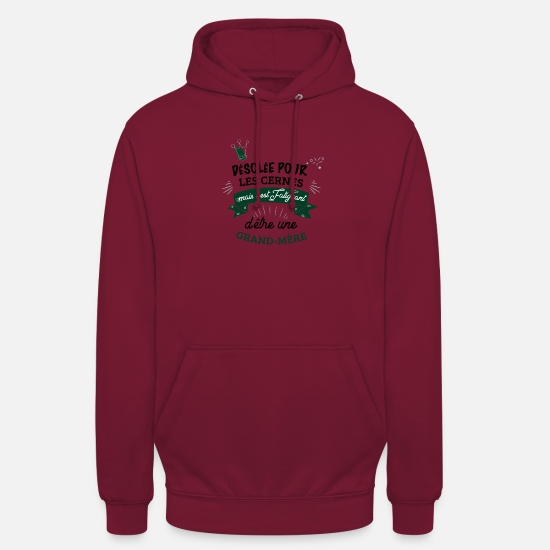 Grandir Sweat-shirts - desolee cernes fatiguant Grand Mere - Sweat à capuche unisexe bordeaux