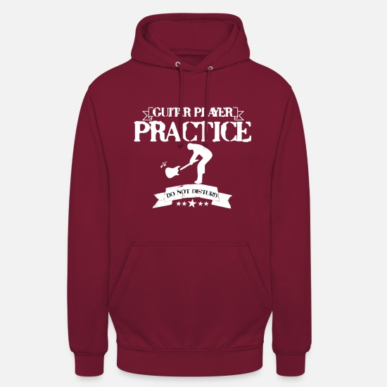 Gitarre Pullover & Hoodies - GUITAR PLAYER PRACTICE DO NOT DISTURB - Unisex Hoodie Bordeaux