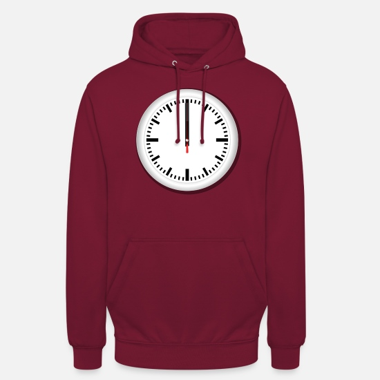 Art Hoodies & Sweatshirts - Clock - Unisex Hoodie bordeaux