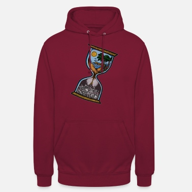 Old Old school hourglass tattoo gift - Unisex Hoodie