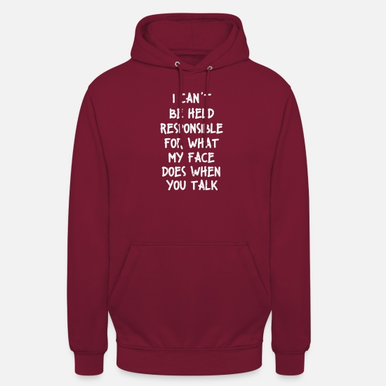 Sayings Hoodies & Sweatshirts - Say Sarcasm Sarcastic Humor Gift - Unisex Hoodie bordeaux