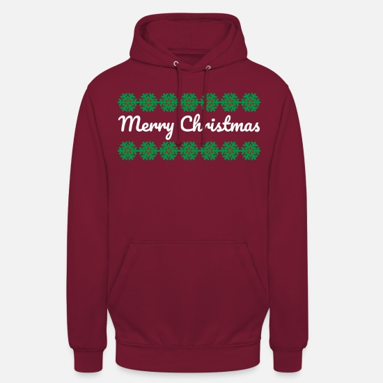 Christmas Hoodies & Sweatshirts - Merry Christmas Hoodie Christmas sweater - Unisex Hoodie bordeaux