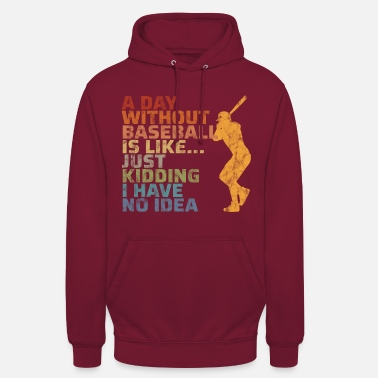Stick Baseball coach gift pitcher vintage retro - Unisex Hoodie