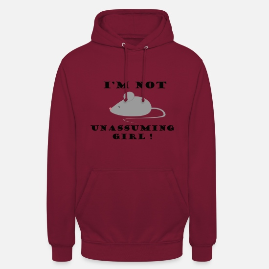 Souris Sweat-shirts - Souris - Sweat à capuche unisexe bordeaux