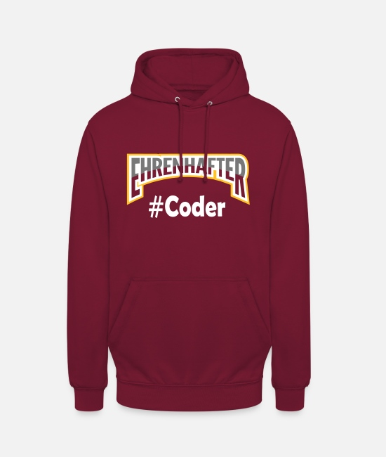 Coder Hoodies & Sweatshirts - Honorable #Coder white - Unisex Hoodie bordeaux