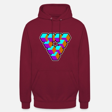 Cool Geometria Triangle Illusion Goa Gift - Bluza z kapturem unisex