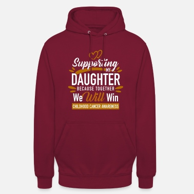 Childhood Support Son / Daughter Childhood Cancer Awareness - Unisex Hoodie