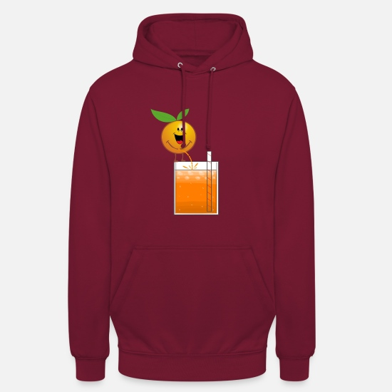 Orange Juice Hoodies & Sweatshirts - Orange pees orange juice - Unisex Hoodie bordeaux