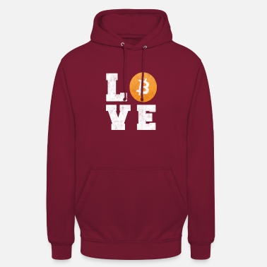 Bitcoin Love - Crypto Currency T-Shirt Gift - Unisex Hoodie