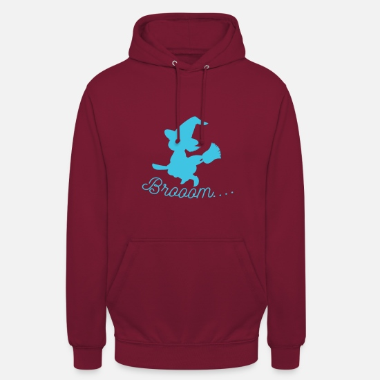 Witches Broom Hoodies & Sweatshirts - Witch - Witch Broom - Unisex Hoodie bordeaux