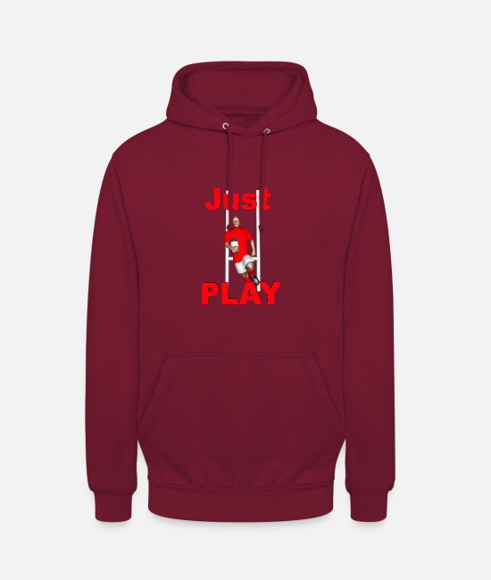 Lyon Rugby Toulousain Hoodies & Sweatshirts - RUGBY Just Play - Unisex Hoodie bordeaux