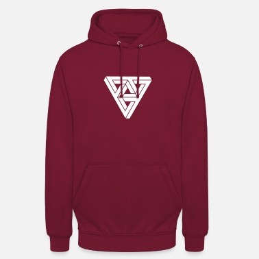 Meme &amp Optical illusion Triangle Minimal Shape - Unisex Hoodie