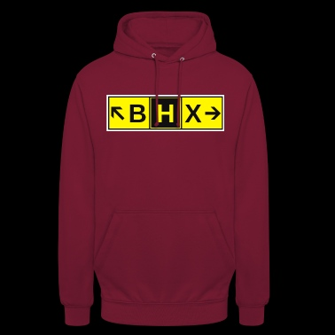 BHX Airport Taxiway Direction Sign Array - Unisex Hoodie