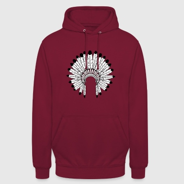 Warbonnet - Indian headdress - Unisex Hoodie