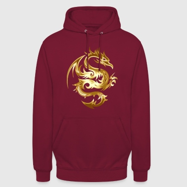 Golden Chinese Dragon Gift Idea - Unisex Hoodie