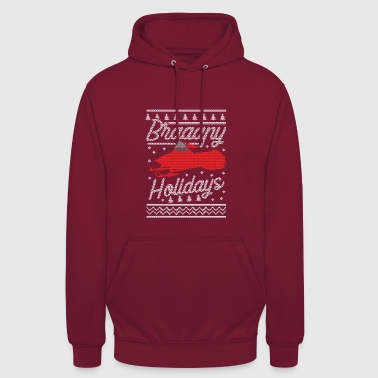 Snowmobile Ugly Christmas - Unisex Hoodie