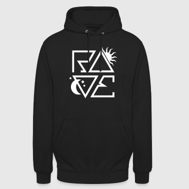 RAVE Day n Night Afterhour Clubbing Techno Party - Unisex Hoodie