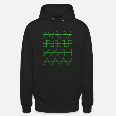 Synthesizer Wellenformen Audio Waveform Oscillator Synthesizer - Unisex Hoodie