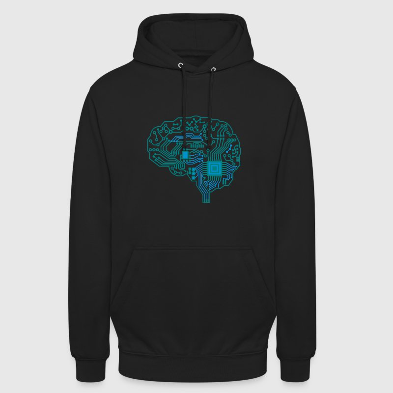 Android brain pcb - Unisex Hoodie